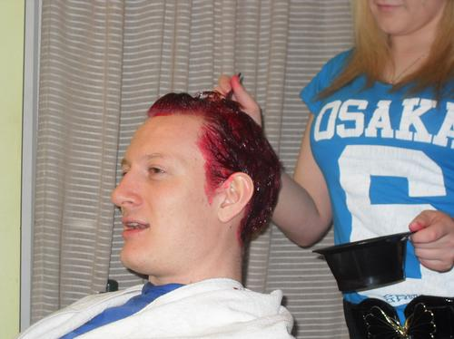 Jim dyes his hair red for Have a Heart!