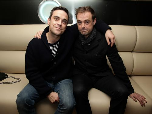 Robbie Williams and Jamie Theakston