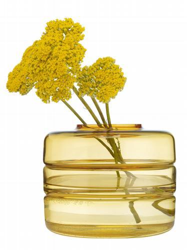 HomeSense amber glass vase