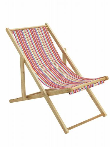 HomeSense bright striped deckchair