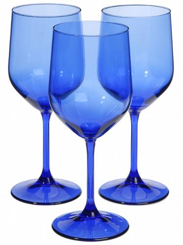 HomeSense cobalt blue wine glasses