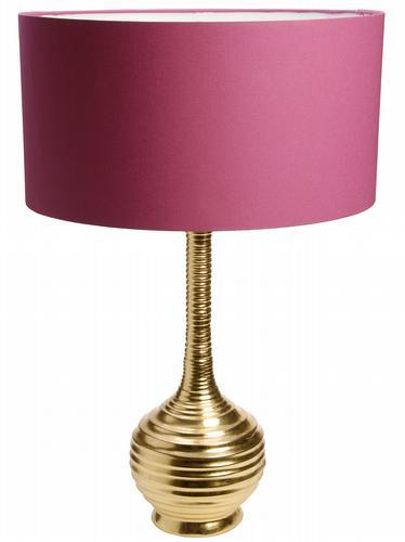 HomeSense Gold lamp base with pink shade
