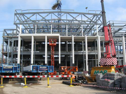 Building work at the Marlowe Theatre
