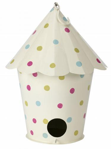 HomeSense polka dot bird feeder