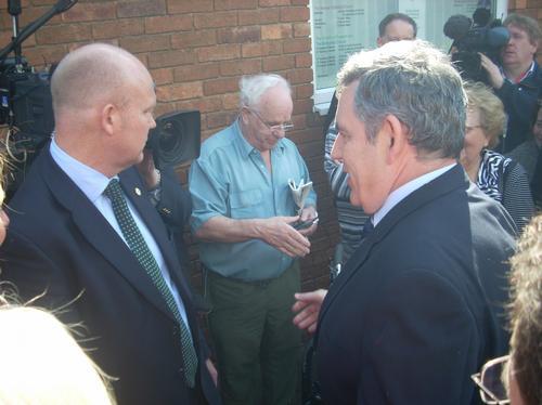 Gordon Brown Visits Stevenage