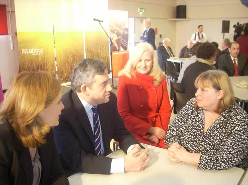 Gordon Brown Visits Stevenage