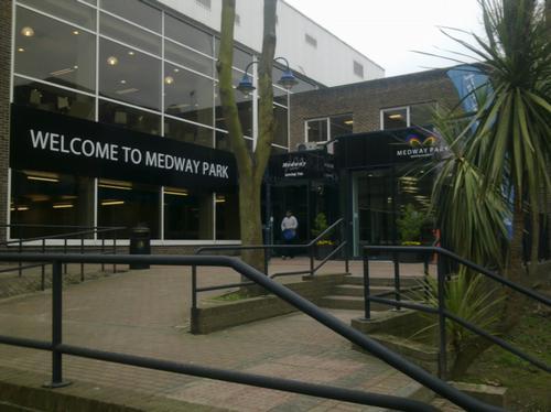 Entrance to Medway Park in Gillingham