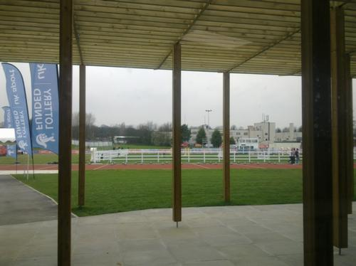 Looking towards the running track at Medway Park