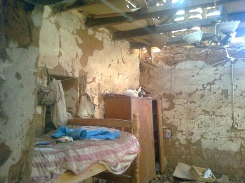 Bedroom after quake in Chile