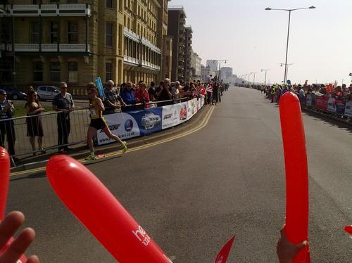 Brighton marathon runner