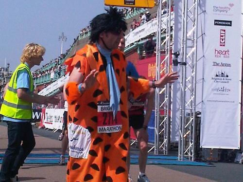 Fred Flinstone at Btn marathon