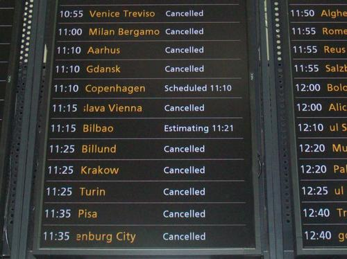 Stansted Departure Board