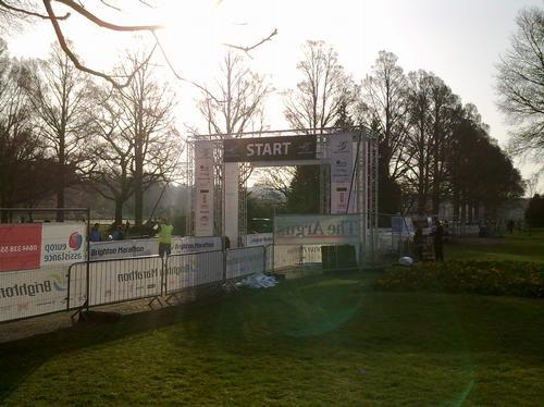 Btn Marathon startline in Preston Park