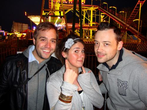 Tim, Sophie and Stu at Funderworld