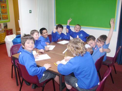 """Students doing a bit of """"Heartwork"""""""