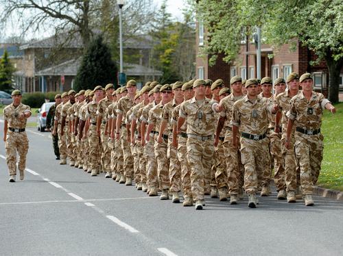3 Yorks troops Warminster