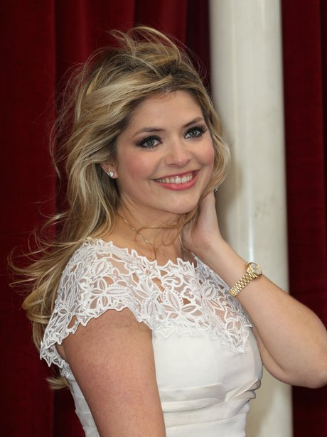 Holly Willoughby in lace white dress
