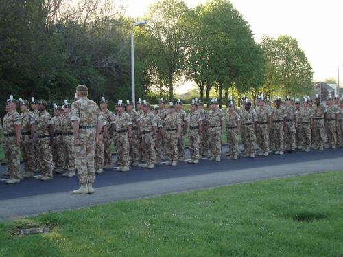 Royal welsh soldiers march