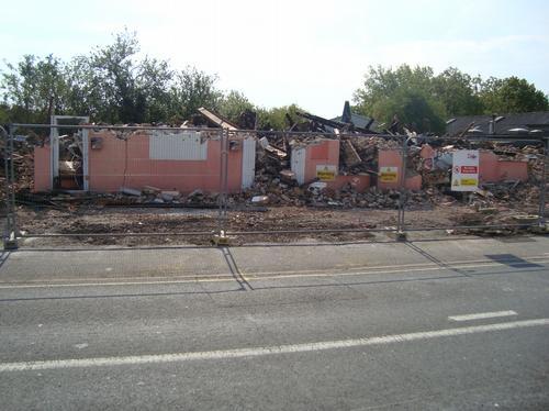 The demolished Junction Inn
