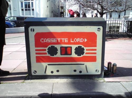 Brighton Graffiti telephone junction box
