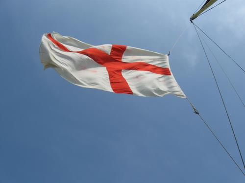 George cross flag on one of the little ships