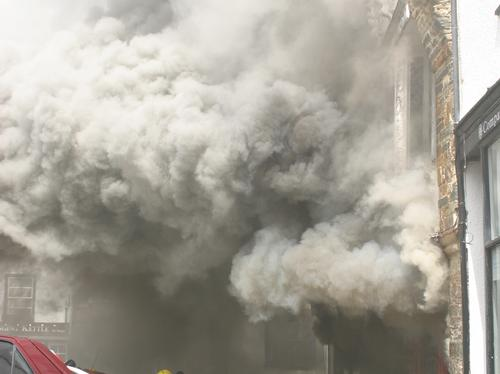 Firefighters tackle fire