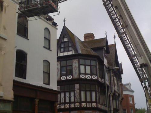 Fire crews check hotspots