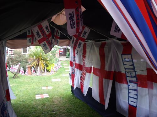 Home of England superfan Sharon Miller