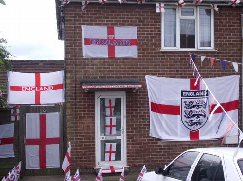 Home of England superfan Sharon Miller