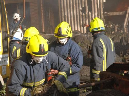 Fire at Rush Green Motors