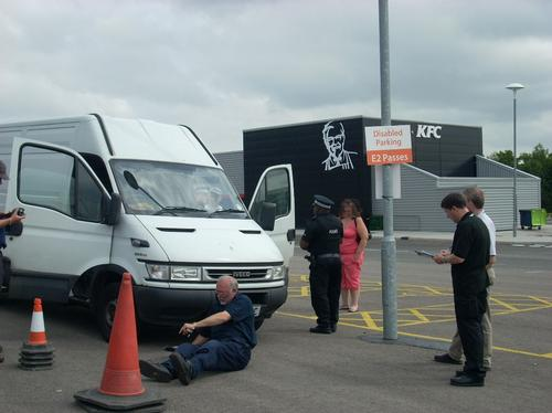 Van being checked