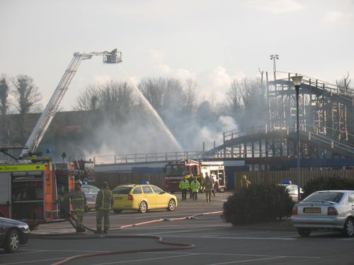 Picutres of the fire at the Scenic Railway in 2008