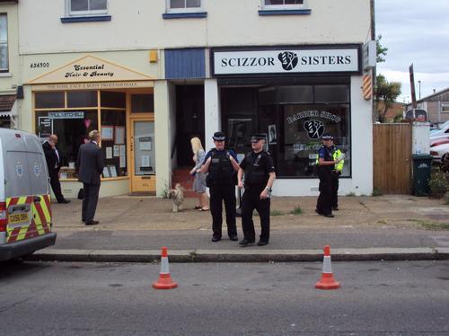 Police search garden in Portslade