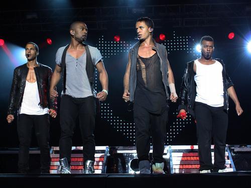 JLS performing live at Quex Park