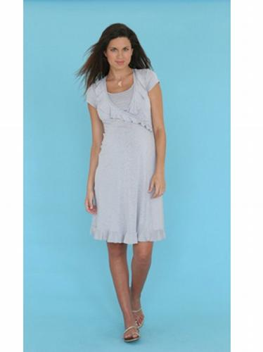 Mayreau Henley Ruffle Breastfeeding/Maternity Dress