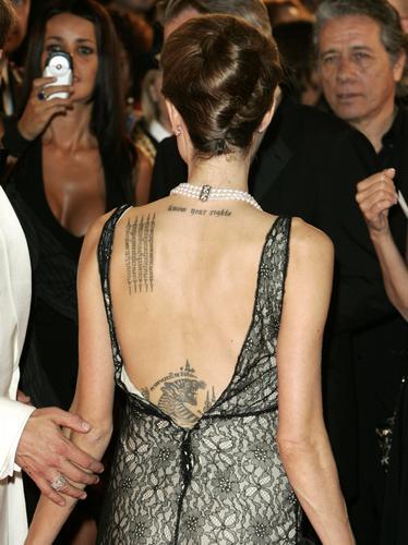 Angelina Jolie Tattoos 2019: Celebs With Tattoos Angelina Jolie