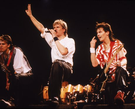 Duran Duran in the 80s onstage