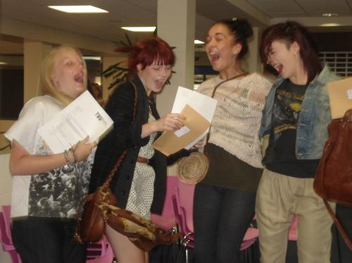 A Level Results Day at Reading College