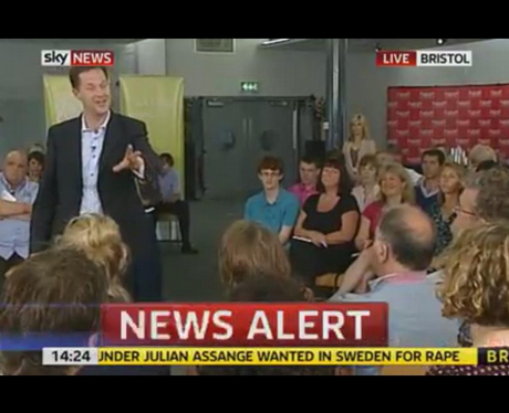 In pictures: Nick Clegg meets... on TV