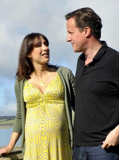 David and Samantha Cameron on holiday in Cornwall