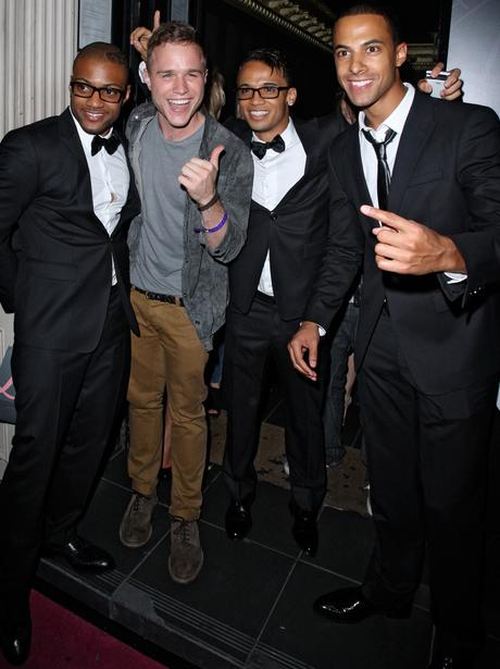 JLS and Olly Murs at the lipsy party