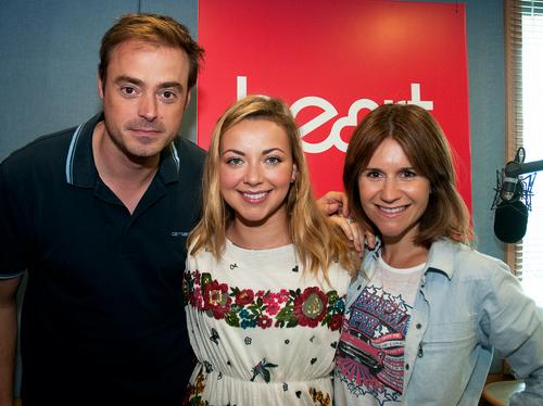 charlotte church with jamie and harriet on heart