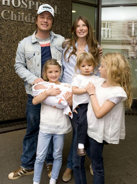 Jamie and Jools Oliver with new baby