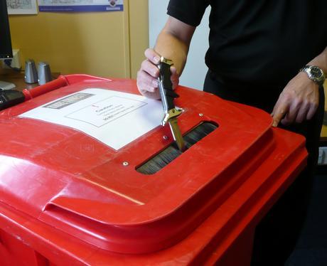 Knife placed in police amnesty bin
