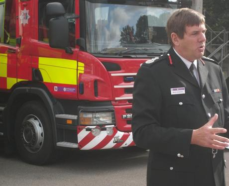 Chief Fire officer Martyn Emberson