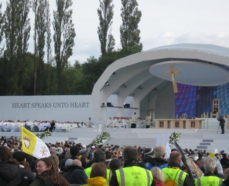 Pope on stage