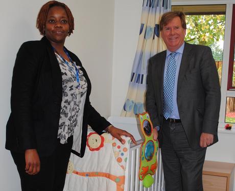 Ward manager Doreen Ngwenya and MP Simon Burns
