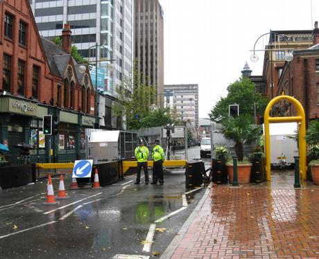 Road blocks at Tory Conference