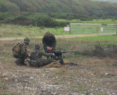 On the Firing Range at Lulworth