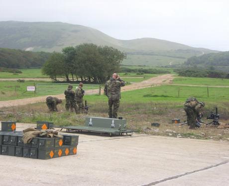 At The Defense Estates Ranges in Lulworth